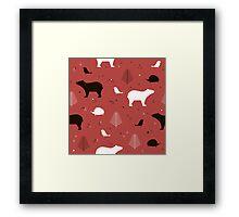 Forest Animals Framed Print