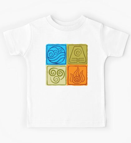 The Four Elements - Avatar: The Last Airbender Kids Tee