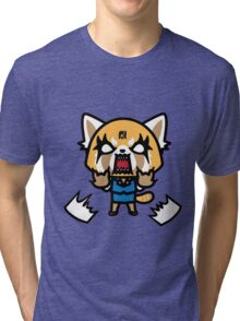 Aggretsuko (V1) Tri-blend T-Shirt