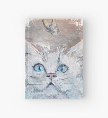 Cat with butterfly Hardcover Journal