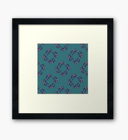 vintage pattern. Framed Print
