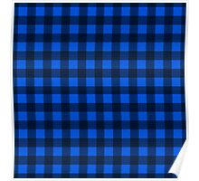 Blue plaid pattern Poster