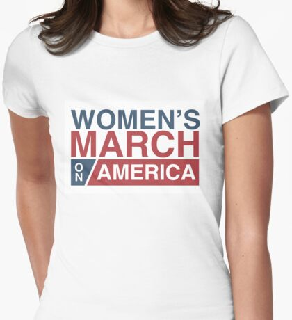 Women's March on America Womens Fitted T-Shirt