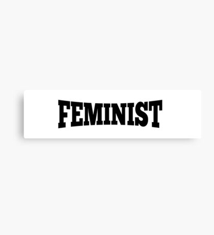 Feminist Curved Canvas Print