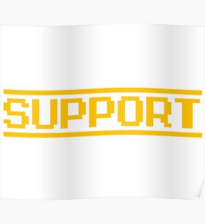 Support vector machines logo, white (8-bit) Poster