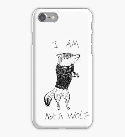 I AM NOT A WOLF iPhone Case/Skin