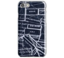 Abstract lines of letters iPhone Case/Skin