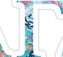 Alpha Gamma Delta Lilly Pulitzer Sticker