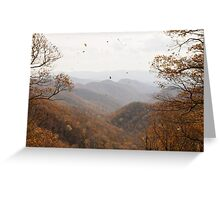 {windy autumn day} Greeting Card