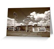 Route 66 - Sands Motel Greeting Card