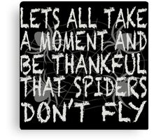 Flying Spider Canvas Print