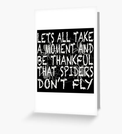 Flying Spider Greeting Card