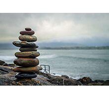 Fun With Cairns - Strandhill, Ireland Photographic Print