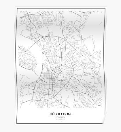 Düsseldorf Minimalist Map Poster