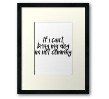 Dog lovers Framed Print