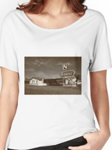 Route 66 - Tucumcari, New Mexico Women's Relaxed Fit T-Shirt