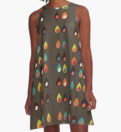 Mod Chocolate Drops A-Line Dress