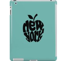 Big Apple New York, black iPad Case/Skin