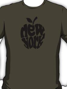 Big Apple New York, black T-Shirt