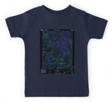 USGS TOPO Map California CA Tower Peak 102043 2001 24000 geo Inverted Kids Tee