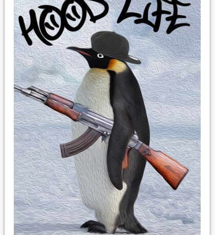 Penguin Hood Life Sticker Sticker