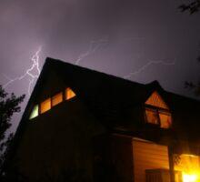 Spooky Lightning House Sticker