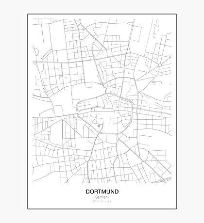 Dortmund Minimalist Map Photographic Print