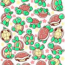 Adorable turtle pattern all over by TechraNova