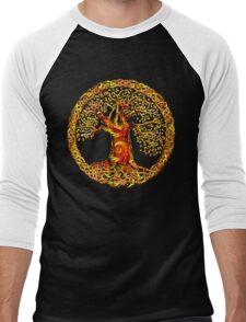 TREE OF LIFE - orange crush Men's Baseball ¾ T-Shirt