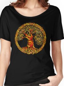TREE OF LIFE - orange crush Women's Relaxed Fit T-Shirt