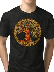TREE OF LIFE - orange crush Tri-blend T-Shirt