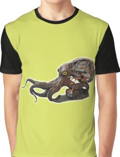 Steampunk Crawling Octopus Graphic T-Shirt