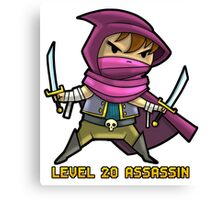 Level 20 Assassin Canvas Print