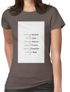 Friends Graphic Womens Fitted T-Shirt