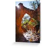 Golden Gully Arch - Hill End Greeting Card