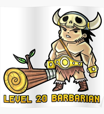 Level 20 Barbarian Poster