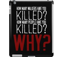 The Walking Dead Killer Questions iPad Case/Skin