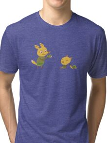 Foxes and snail Tri-blend T-Shirt