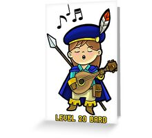 Level 20 Bard Greeting Card