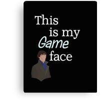 Game face dark t-shirt Canvas Print