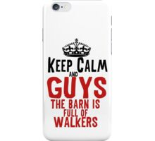 The Walking Dead Glenn Rhee Zombie Typography iPhone Case/Skin