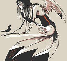 Crow Queen by Blueteardrops