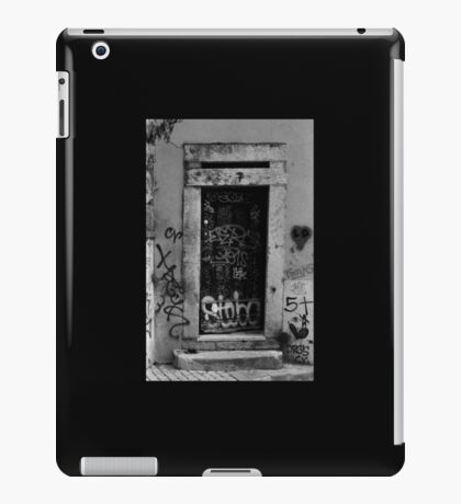 Lisbon door film photography iPad Case/Skin