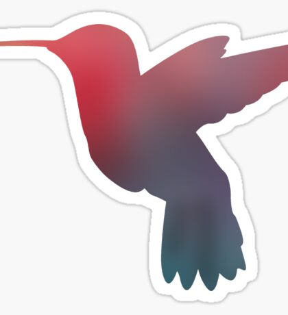 Hummingbird Silhouette Sticker