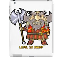 Level 20 Dwarf iPad Case/Skin