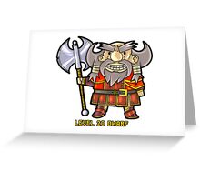 Level 20 Dwarf Greeting Card