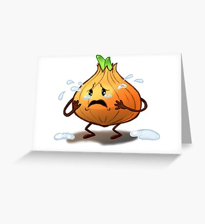 Crying Onion Greeting Card