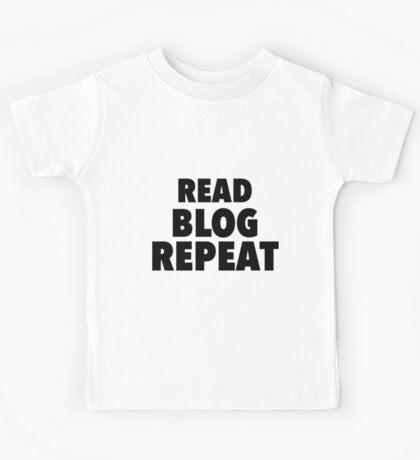 Read Blog Repeat Kids Tee