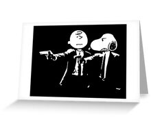Pulp Fiction Peanuts Greeting Card