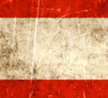 Vintage Aged and Scratched Austrian Flag Sticker